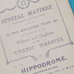 Benefietprogramma 25 april 1912, Hippodroom theater Southend-on-Sea